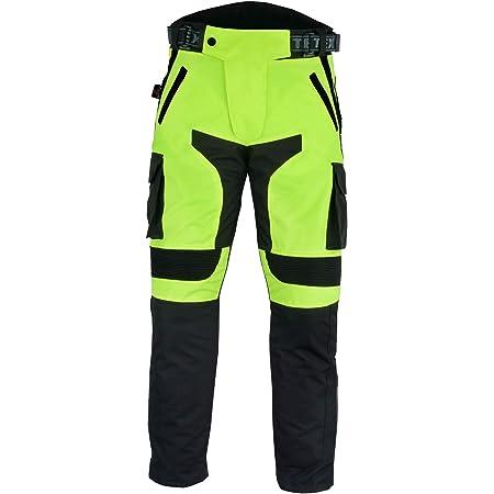 Texpeed Herren Motorradhose Mit Ce Protektoren Wasserdicht Schwarz Neongelb Textil Alle Größen Auto