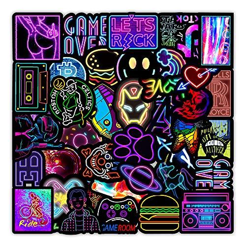 MARSFORCE Neon Graffiti Aufkleber, Wasserdicht Vinyl Stickers für Laptop Wasserflaschen Skateboard Gepäck Auto Motorrad Fahrrad Gitarre PS4 Koffer Snowboard Handy Pad [100 Stück Pack]