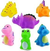 ISusser Bathtub Toy Dinosaur Toy Toy Squirt Baby Spray Toy, 6 Pcs