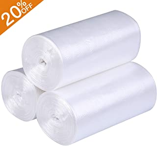 Small Trash Bags Kitchen Garbage Bags - 4 Gallon Clear Trash Bags Strong Wastebasket Liners for Bathroom, Kitchen, Office 15 Liter Trash Can Liners - 150 Counts