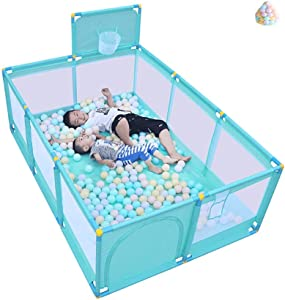 XHJYWL Playpen Panel Baby Children s Game Fence Play Yard with Balls Household Shooting Fence Kid s Safety Activity Center