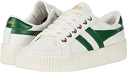 Off-White/Dark Green
