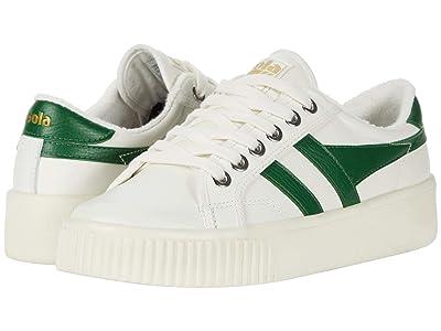 Gola Baseline Mark Cox Leather (Off-White/Dark Green) Women