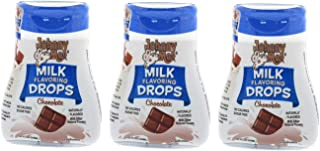 Johnny Moo Milk Flavoring Drops, Chocolate Flavor - A Sweet Treat That Makes Milk Taste Great - No Sugar, No Calories, Gluten Free, Naturally Flavored - Pack of 3, 1.62 fl oz, 24 Servings Per Bottle