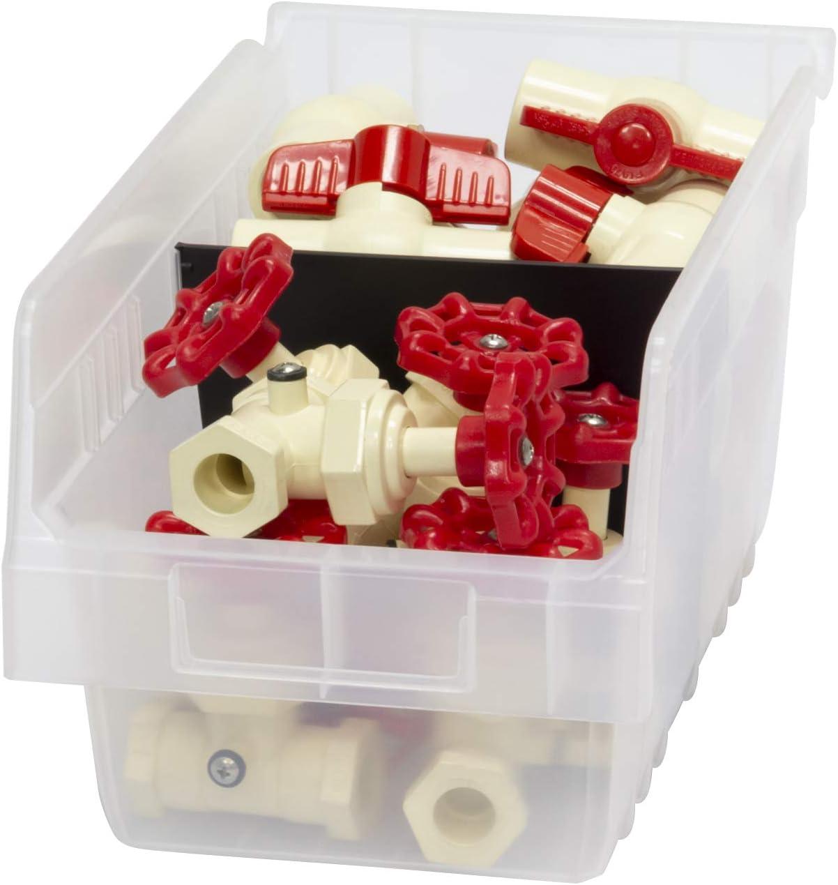 black Pack of 12 Akro-Mils 40030 Width Divider for 30090 and 30098 ShelfMax Plastic Nesting Shelf Bin Box