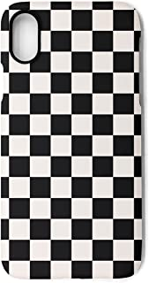 YUEch iPhone X Case iPhone 10 Case black checkered squares TPU Shock-Absorption & Skid-proof Anti-Scratch Phone Case Cover for Apple iPhone X
