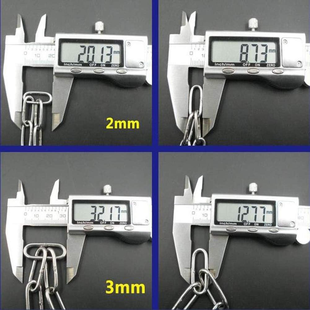 Jikaihong Chain Iron Hanging Chain Lifting Clothes Drying Guardrail Anti-Leech Handy Link Utility Chain 3mm Diameter 170lbs Working Load Limit 3mm