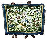 Songbirds - Helen Vladykina - Cotton Woven Blanket Throw - Made in The USA (72x54)