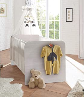 möbelando Babybett Gitterbett Kinderbett Babybettchen Kinderbettchen Babymöbel Lebbie I