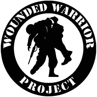 17.8CM17.8CM Wounded Warrior Project Vinyl Decal Car Sticker Black Silver C13-000681 Black