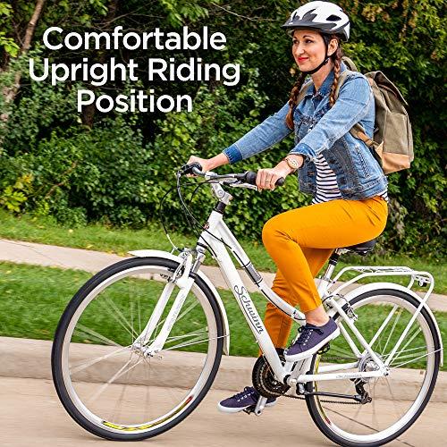 Schwinn Discover Hybrid Bike for Women, White