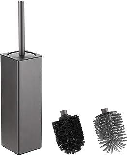 bgl Brosse WC et support, support de brosse carré TPR et PP 2 têtes de brosse, brosse WC en aluminium pour le nettoyage de...