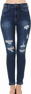 Wax Jean Women's 'Butt I Love You' Push-Up Destructed Ripped Skinny Jean in Fine Cotton Denim