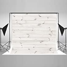 7ft(W) x5ft(H Photography Backdrop Retro Grunge White Wood Texture Background Abstract Portrait Wooden Photo Studio Props for Photographer Photo Backdrop White