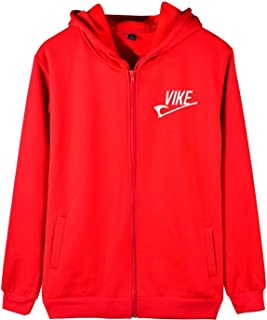 2019 Funny Viking Axe Print Zipper Jacket Hip Hop Hoodies Men Hooded Sweatshirt
