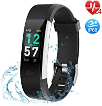 Fitness Tracker COLOR Screen, Heart Rate Monitor Activity Tracker IP68 Waterproof for Kids/Men/Women Smart Band for Heart Rate/Pedometer Watch/Calorie Counter/Call Remind, Goal Setting, with Veryfitpr