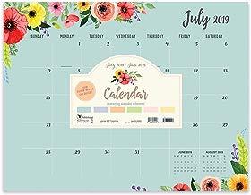 Classic Floral Large Desk Pad Monthly 2020 Calendar: July 2019 - June 2020 (Academic Year Desktop Calendar, Planning Blotter)