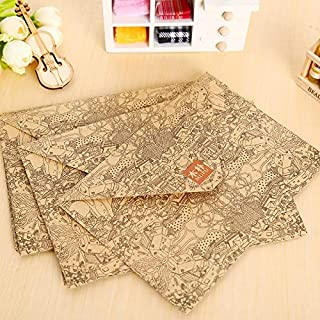 GYHS 10 Pcs/lot Vintage Kraft Envelope Postcards Greeting Card Cover Brown Kraft Envelopes Stationery School Supplies