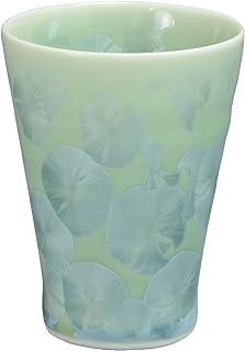 京焼 清水焼 陶あん窯 なごみカップ 花結晶(緑) トウア896