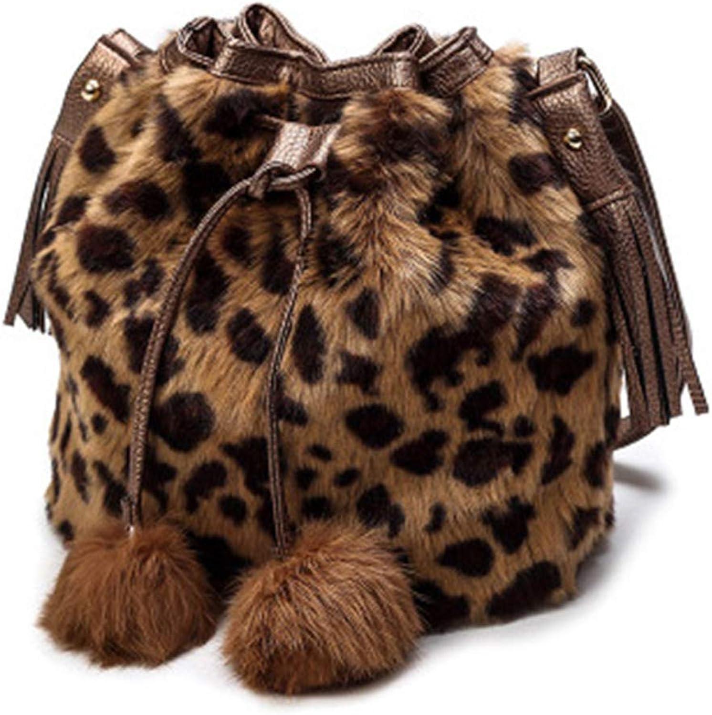 XJZJIA Tasche Damentasche Umhängetasche Diagonal Tasche Haartasche, brauner brauner brauner Leopard B07KN7K1L1  Sehr praktisch 4623f3