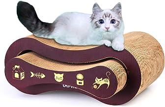 URPRO Tabla rascadora para Gatos, cartón Superior 2 en 1 para Gatos, casa de Gatos, Cama de Gatos y Parque Infantil
