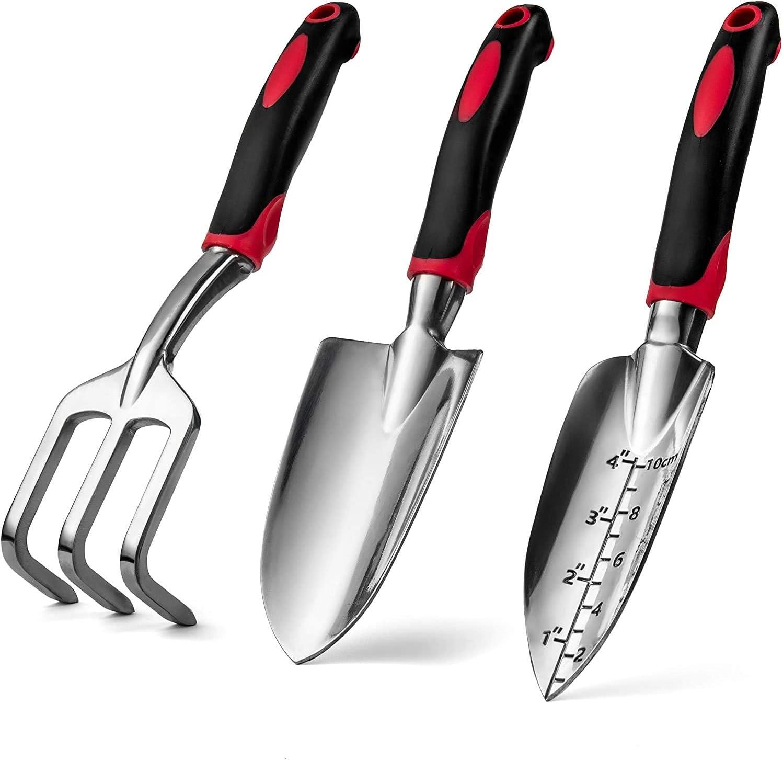 ONETOPU Garden Hand Tools Set of Duty 3 Heavy Limited New York Mall time cheap sale Aluminum Cast Gar