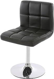 Lot de 6 chaises de Salle à Manger Kavala, pivotante, Similicuir, Noir