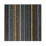 Design Teppichfliesen Paris 50x50 cm selbstliegend - strapazierfähiger Teppich Bodenbelag mit...