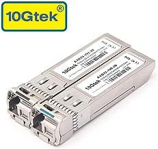 a Pair of 10 Gigabit SFP+ Bidi Single-Mode Transceiver, 10GBASE Single LC Module for Cisco SFP-10G-BXD-I/SFP-10G-BXU-I, Ubiquiti, Mikrotik, D-Link, Supermicro, Netgear, 1270nm/RX1330nm, up to 10-20km