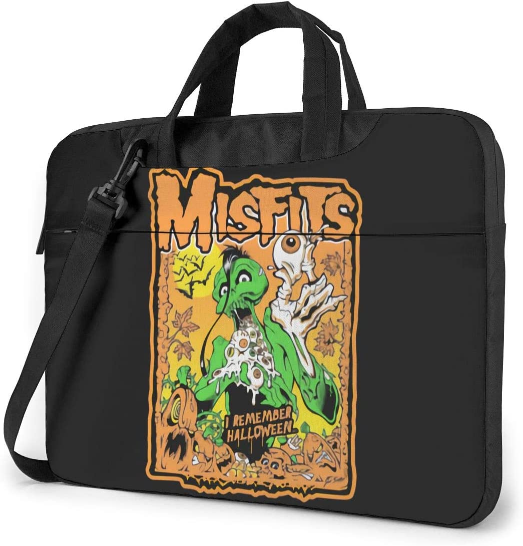 14 Inch Laptop Bag Misfits Laptop Briefcase Shoulder Messenger Bag Protective Coverblack