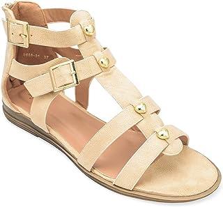 tresmode Women's Beige Fashion Sandals