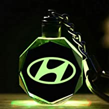 Led Hyundai 3D crystal Keychain//Keyring Great Gift