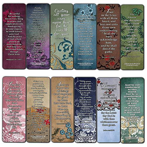 KJV Schriften Lesezeichen für Frauen Serie (30er-Pack) – Tolles Geschenk für Muttertagsgeschenke, Frauenkirche Supplies (30-Pack) Lesezeichen, Favorite Kjv Scriptures (30 Stück)