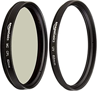 Amazon Basics - Filtro polarizador Circular - 62mm + Filtro de protección UV - 62mm