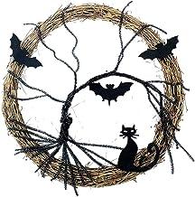 Generic Garland Halloween Fornece Pingente Luminoso Pendurado Bate- Preto