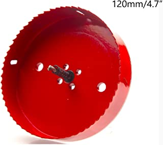 Rannb 4.7 inch/120mm Dia Wood Iron Spring Loaded Hole Saw Drilling Tool