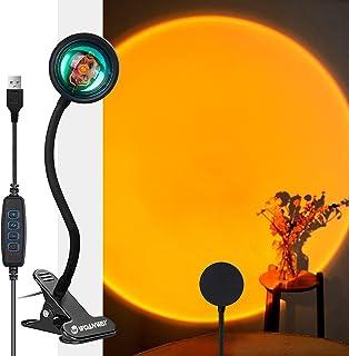 WOANWAY Sunset Projection Lamp,Lumière LED de Projection de Coucher du Soleil, Veilleuse de Nuit à LED Romantique avec Rot...