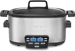 Cuisinart MSC-600FR Cuisinart MSC-600FR 3-In-1 Cook Central 6-Quart Multi-Cooker: Slow Cooker, Brown/Saute, Steamer (Renewed), Silver