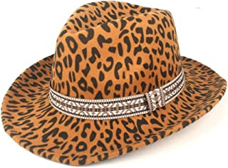 Fedora Cap Fashion Winter Autumn Fedora Hat Wool Polyester Top Jazz Fashion Ribbon Felt hat (Color : Yellow, Size : 56-58cm)