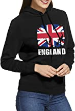 PW79QQ79 Women's Long Sleeve Pullover Sweatshirt England African Flag Football Rugby Hoodie Without Pockets