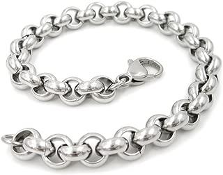 Stainless Steel Belcher Rolo Chain Men Bracelet 7mm