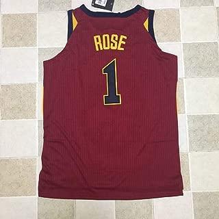 HS-ZHAOPAN Hombres Uniforme De Baloncesto NBA Cleveland Cavaliers # 1 Derrick Rose Camiseta De Baloncesto Camiseta Clásica De Baloncesto Swingman Top Sin Mangas,L175~180CM