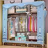 Closet Storage Closet Clothes Portable Armario de pie Armario de Almacenamiento Closet Ropa portátil Armario Organizador Estante Armario Ropa Organizador Wardrobe Closet Organizer Shelf Wardrobe