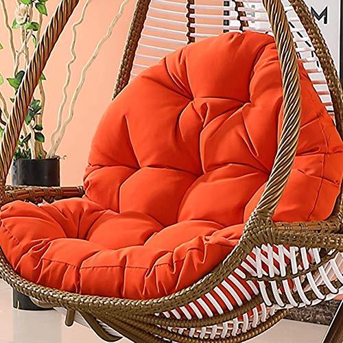 Dljyy - Cojines colgantes para hamaca sin soporte, para aumentar el grosor del asiento, columpio, silla de respaldo para casa, jardín, color morado (color: naranja)
