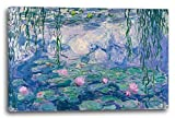 Printed Paintings Stampa su Tela (100x70cm): Claude Monet - Ninfee...