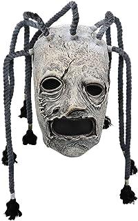 2019 Corey Taylor Latex Mask Dreadlocks Slipknot Fancy Dress Halloween Cosplay Music Party Prop Grey