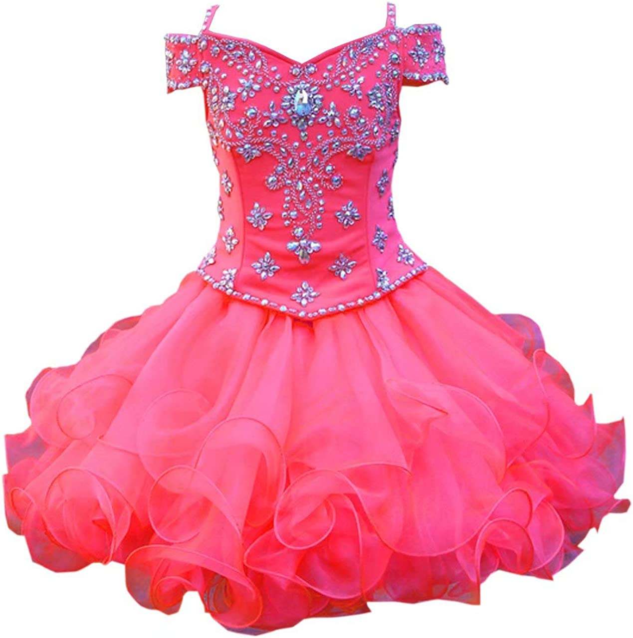low-pricing DommyDesign Ball Gown Cupcake Toddler Girl Dress Regular discount Sh Pageant Cold
