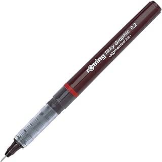 rOtring Tikky Fine Liner Fiber Tip Graphic Pen, 0.2 mm, Black Ink (1904752)