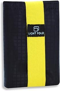 LIGHT FOLD Portafoglio da Uomo Ultra Sottile in Nylon - Design Elegante a Tre Ante - Capienza Fino a 12 Carte di Credito o...