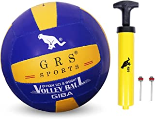 GRS® Hand Stiched Rubber VOLLYBALL Size-4 (Multicolour)